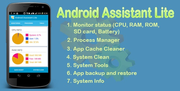 Android Assistant Lite - CodeCanyon Item for Sale