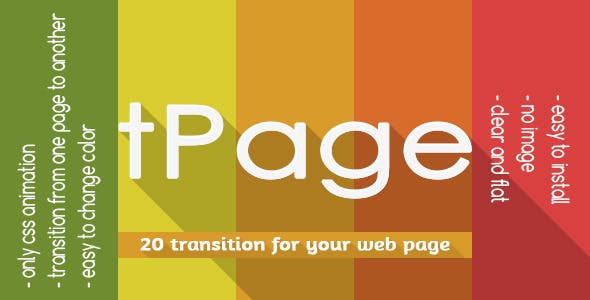 tPage - Transition from one page to another page -