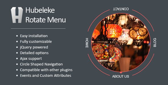 Hubeleke jQuery Circle Rotate Menu