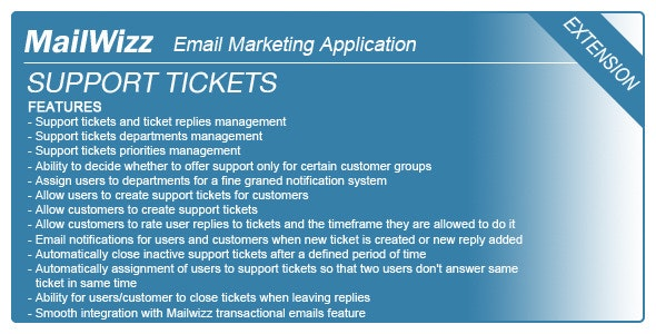 Support tickets system for MailWizz EMA - CodeCanyon Item for Sale