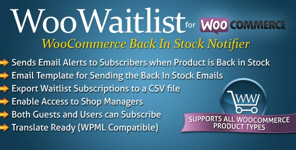 WooWaitlist - WooCommerce Back In Stock Notifier