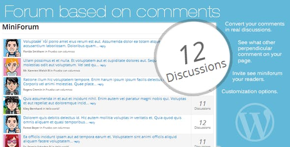 Forum based on comments