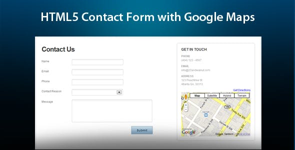 HTML5 Ajax Contact Form With Google Maps        Nulled