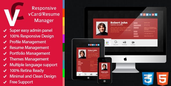 Premium - Responsive vCard/Resume Manager