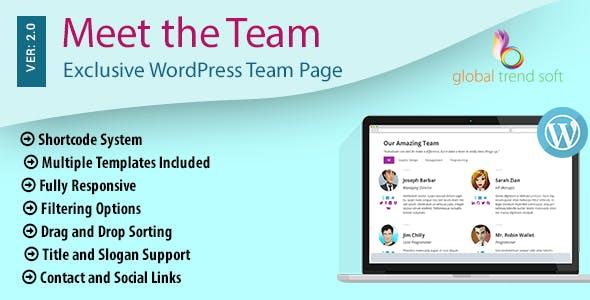 Meet the Team - Exclusive WordPress Team Page