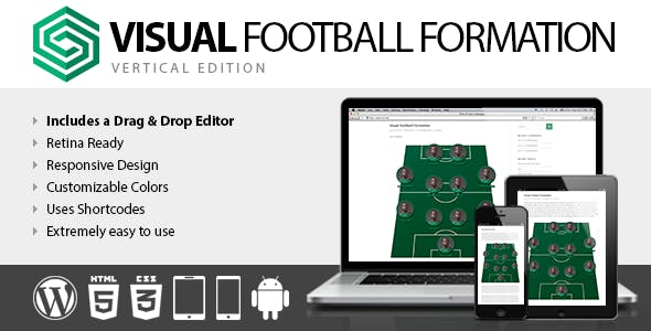 Visual Football Formation Vertical Edition