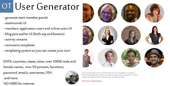 User Generator - CodeCanyon Item for Sale