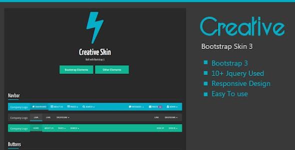 Creative Bootstrap Skin