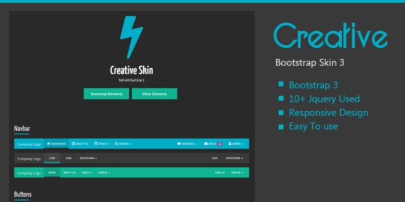 Creative Bootstrap Skin - CodeCanyon Item for Sale