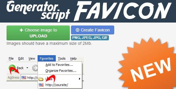 Favicon Generator Script V2 - Quickly & Classically - CodeCanyon Item for Sale