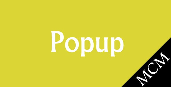 Magento Popup - CodeCanyon Item for Sale