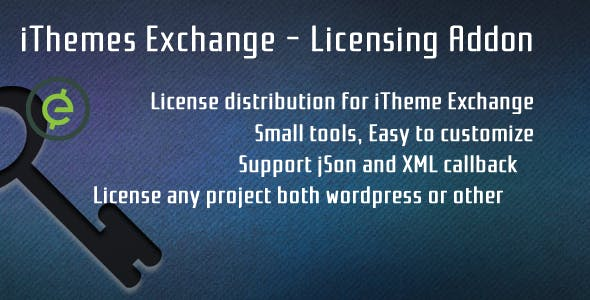 iTheme Exchange - Licensing Addon