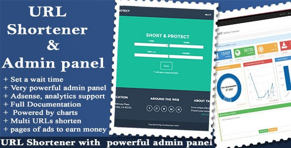 URL Shortener with Ads and Powerful Admin Panel