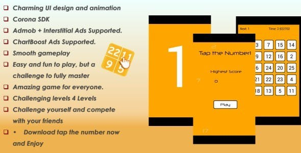 Tap the Number + Admob & ChartBoost Ads