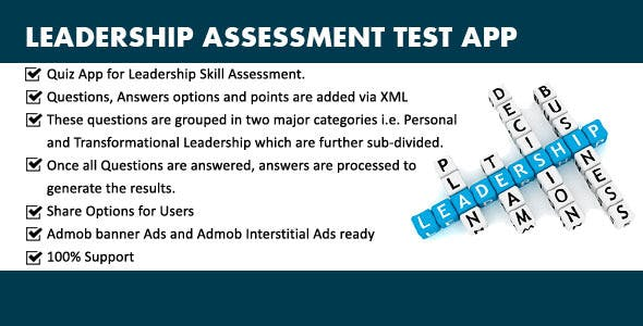 Leadership Skill Test App With Adsense