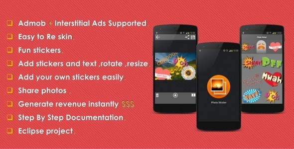 Photo Sticker With Admob - CodeCanyon Item for Sale