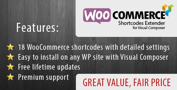 WooCommerce Shortcode Extender for Visual Composer