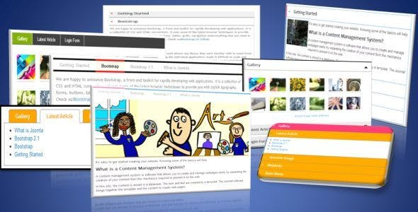 Joomla tab responsive module