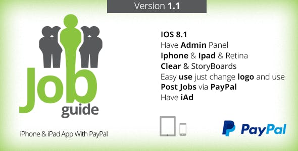 Job Guide - iPhone & iPad App With PayPal V1.1
