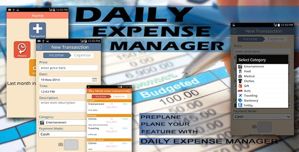 Expense Manager - Android Full Application
