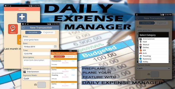 Expense Manager - Android Full Application - CodeCanyon Item for Sale