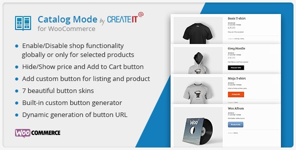 Catalog Mode for WooCommerce - CodeCanyon Item for Sale