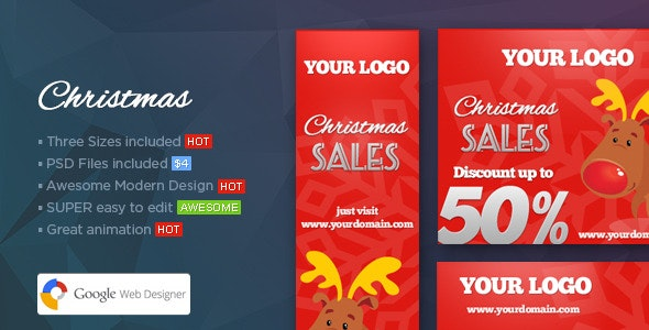 Christmas Banners - Web Banner Template - CodeCanyon Item for Sale