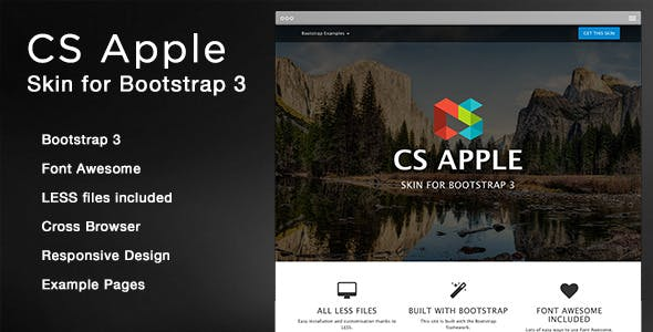 CS Apple - Bootstrap 3 Skin