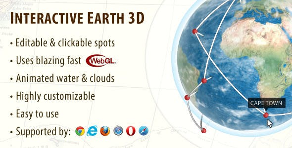 Interactive Earth Globe 3D