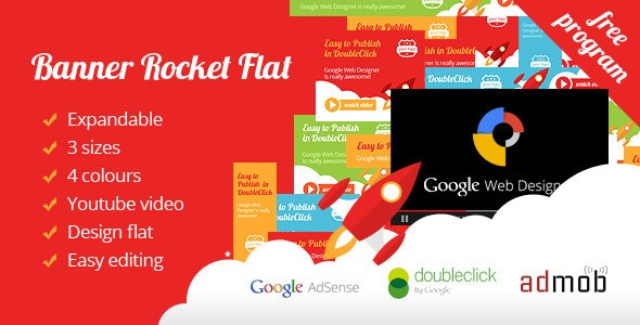 Banner Ad Rocket Flat Expandable with Youtube - CodeCanyon Item for Sale