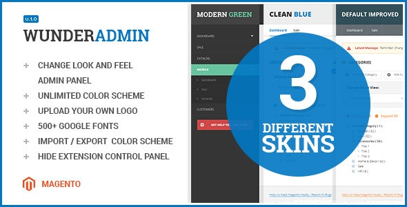 Wunderadmin - magento admin theme - CodeCanyon Item for Sale