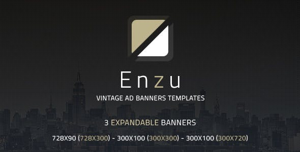 Enzu - Vintage Ad Banners Templates