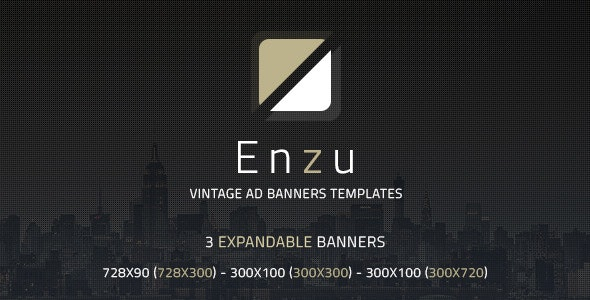 Enzu - Vintage Ad Banners Templates - CodeCanyon Item for Sale
