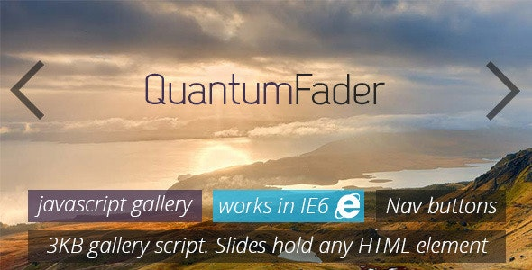 Quantum Fader - Powerful Javascript Gallery - CodeCanyon Item for Sale