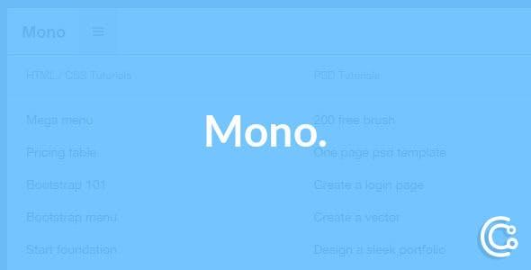 Mono - Responsive Bootstrap Fixed Mega Navbar