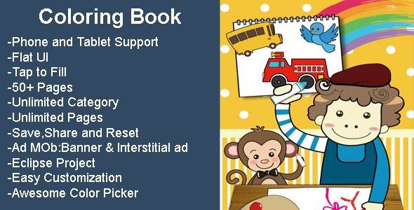 Coloring Book - CodeCanyon Item for Sale