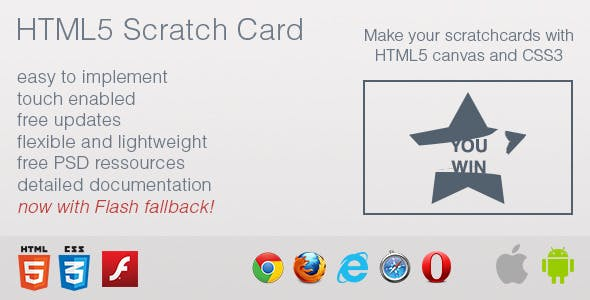 HTML5 Scratch Card        Nulled