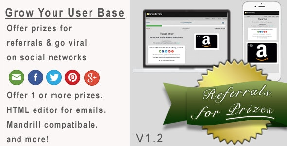 Referrals for Prizes - CodeCanyon Item for Sale