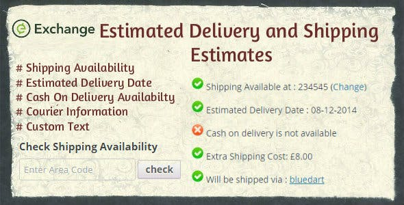 iThemes Exchange Shipping Estimates