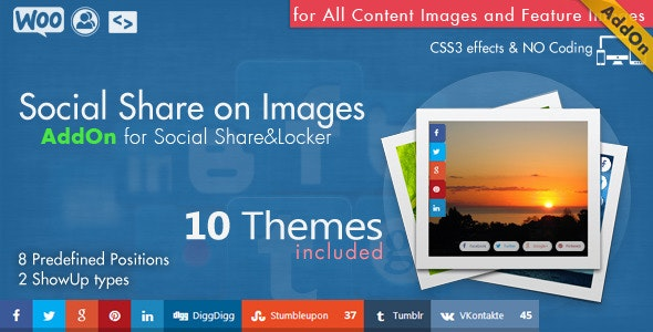 Social Share on Images AddOn - WordPress - CodeCanyon Item for Sale