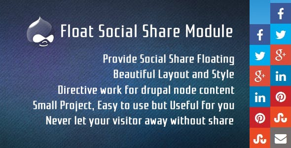 Floating Social Share for Drupal