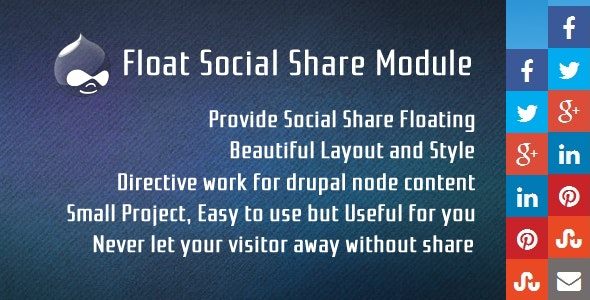 Floating Social Share for Drupal - CodeCanyon Item for Sale