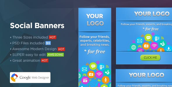 Social Banners - Social Web Banner Template
