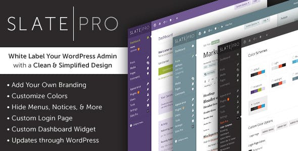 WordPress Admin Theme & White Label - Slate Pro        Nulled