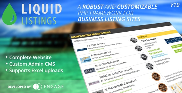 Liquid Listings PHP Business Directory - CodeCanyon Item for Sale