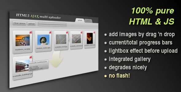 HTML5 AJAX Multi uploader