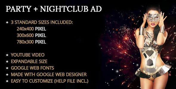 Party / Nightclub Ad Template