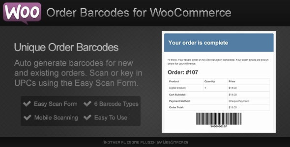 Order Barcodes for WooCommerce - CodeCanyon Item for Sale