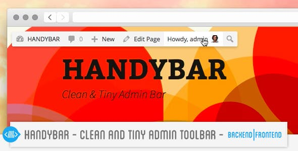 HandyBar : Clean & Tiny Admin ToolBar BackFrontEnd