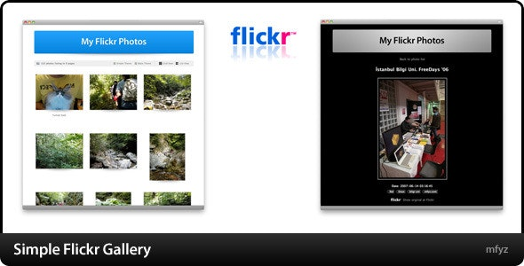 Simple Flickr Gallery - CodeCanyon Item for Sale